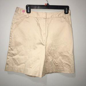 Lily Pulitzer Khaki Tan Bermuda Shorts